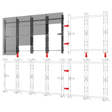 Peerless-AV DS-LEDA27-6X6 - Монтажный комплект для установки видеостены из безрамочных панелей Absen FHD ACCLAIM 1.9
