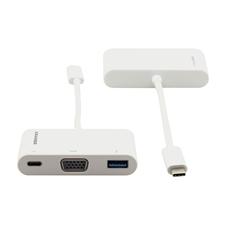 Kramer ADC-U31C/M1 - Переходник USB 3.1 тип C (вилка) на VGA (розетка), USB 3.0 (розетка) и USB 3.1 тип C (розетка)