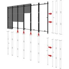 Peerless-AV DS-LEDIF-20x10 - Монтажный комплект для видеостены 20x10 из безрамочных LED-панелей Samsung UHD IF025H