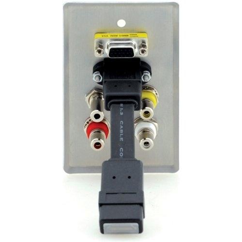 Kramer WAV-6H/US(W) - Настенная панель-переходник с разъемами HDMI, VGA, CV, стереоаудио