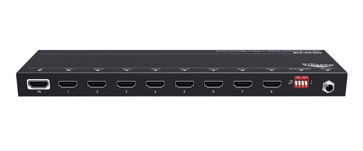 tvONE MG-DA-618 - Усилитель-распределитель 1:8 сигналов HDMI 4096x2160/60 с понижающим масштабированием