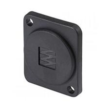 Sommer Cable HI-DAS - Пластиковая заглушка (с логотипом Sommer Cable) на универсальный встраиваемый D-фланец