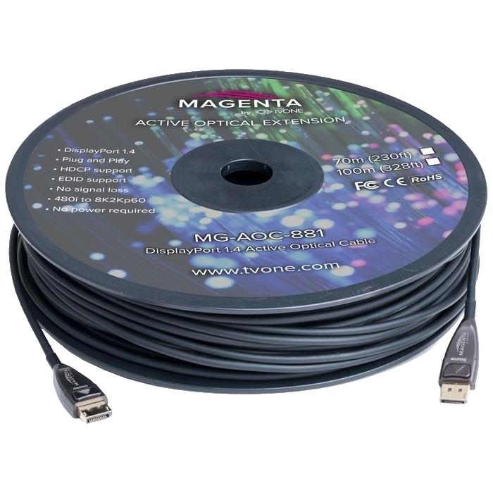 tvONE MG-AOC-882-10 - Кабель DisplayPort 1.4 HBR3 гибридный (вилка-вилка)