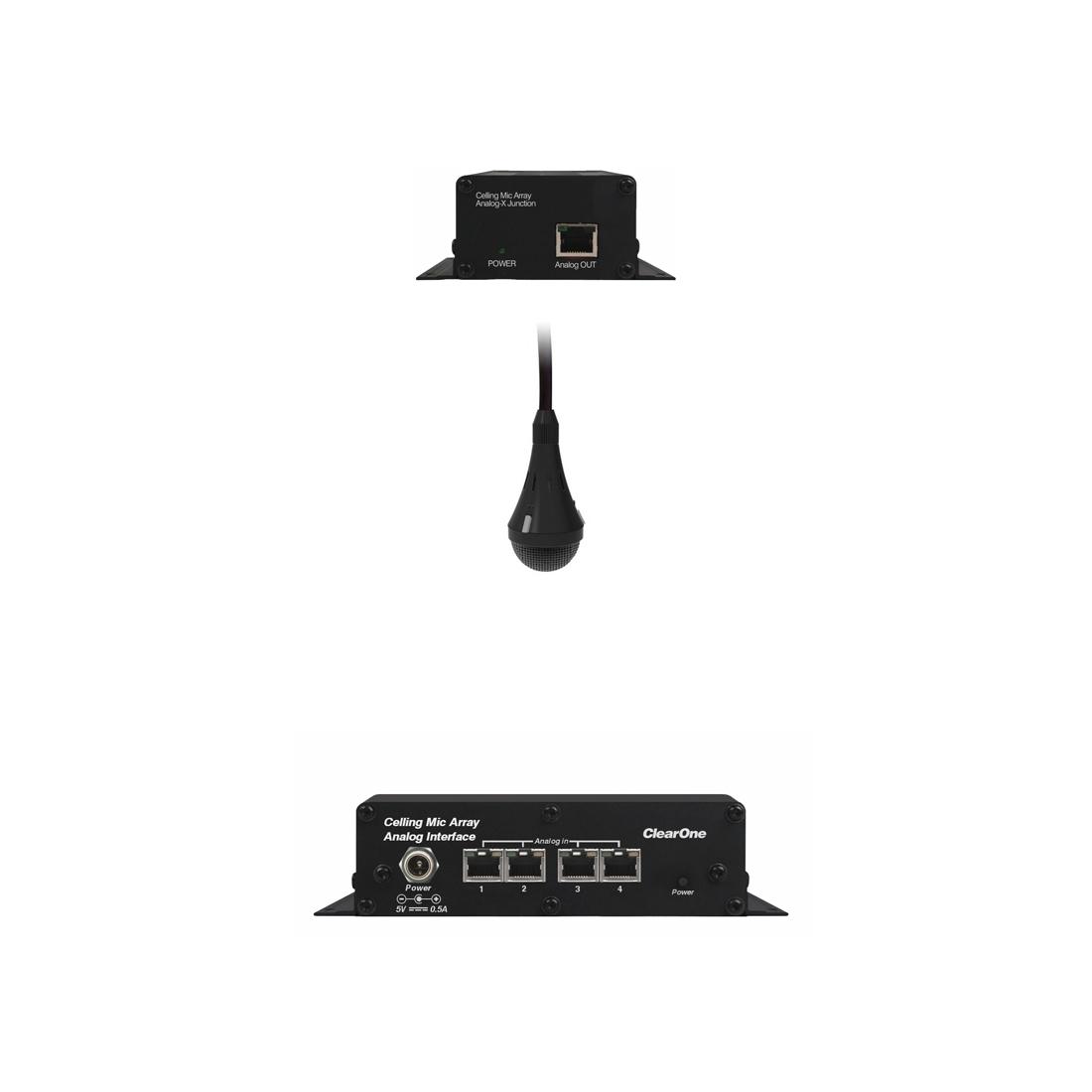 ClearOne CM Array2/B-A Bundle A - Комплект из черного потолочного микрофонного массива с аналоговым выходом, передатчика и приемника