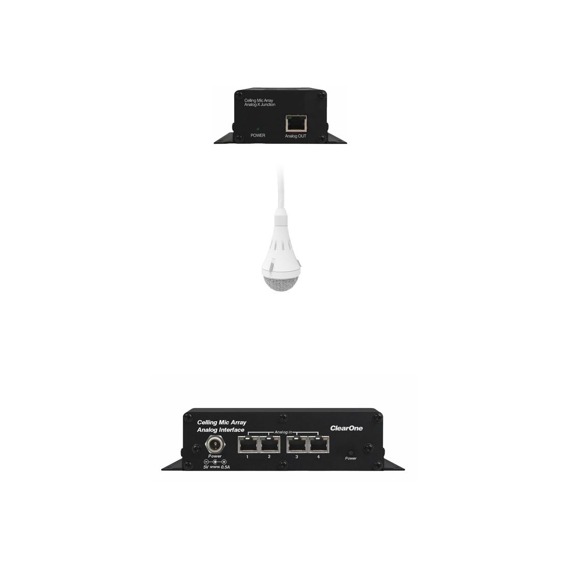 ClearOne CM Array2/W-A Bundle A - Комплект из белого потолочного микрофонного массива с аналоговым выходом, передатчика и приемника