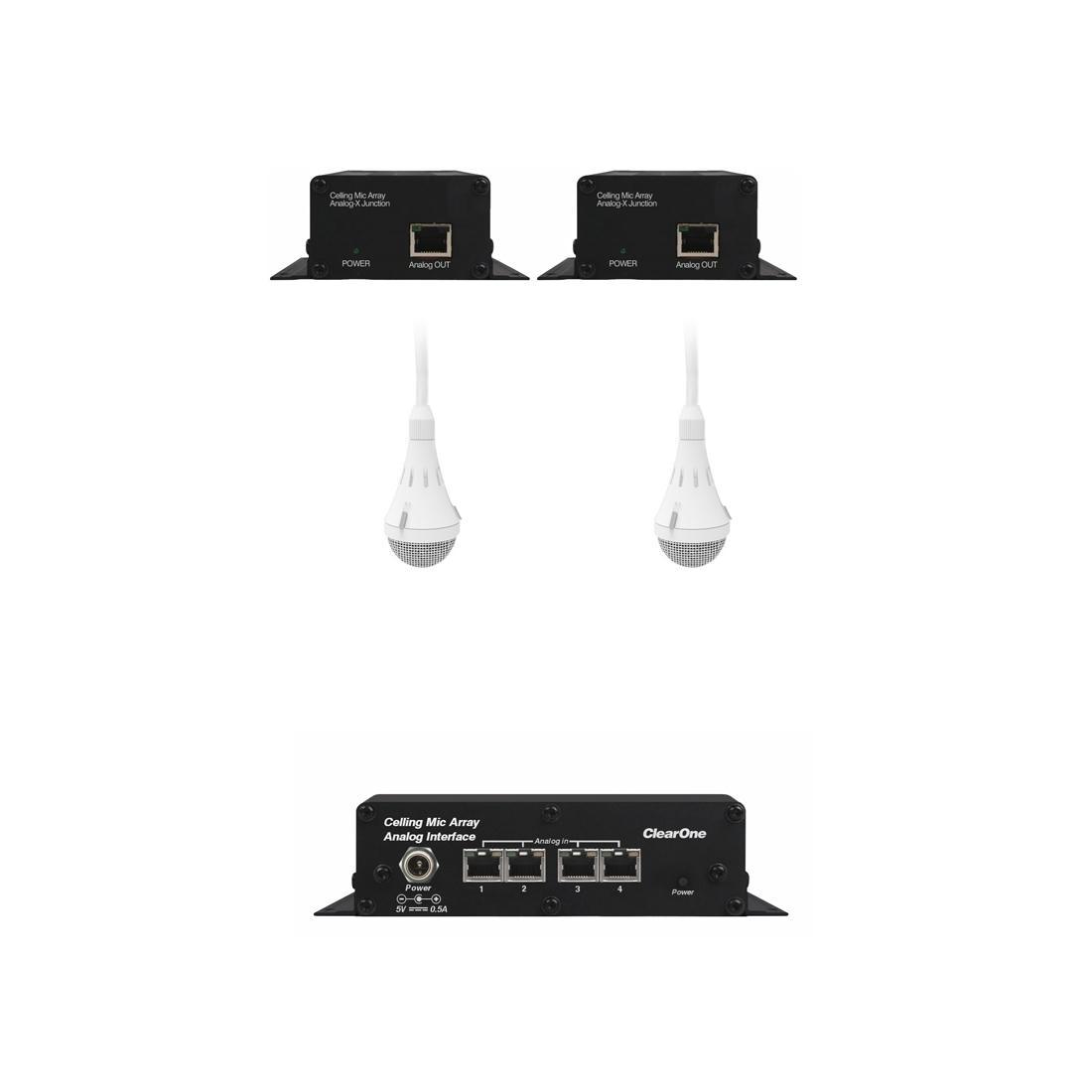 ClearOne CM Array2/W-A Bundle B - Комплект из 2 белых потолочных микрофонных массивов с аналоговым выходом, 2 передатчиков и приемника