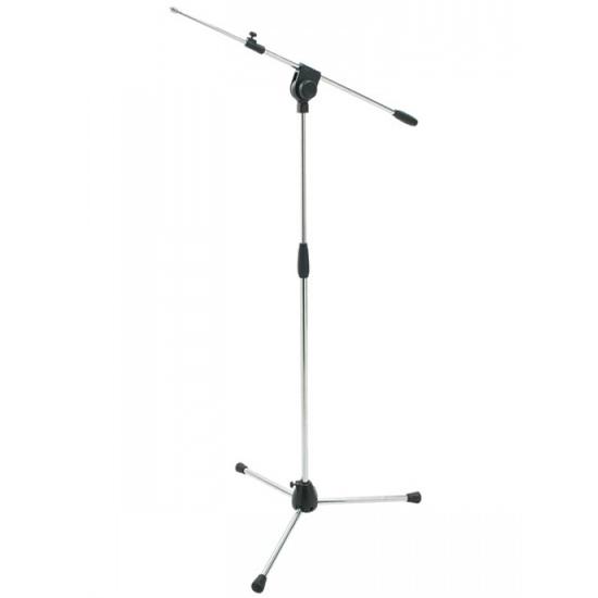 Proel PRO200CR - Микрофонная стойка с телескопическим журавлем на треноге серебристого цвета