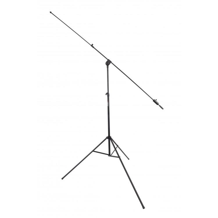 Proel PRO300BK - Профессиональная высокая микрофонная стойка с журавлем на треноге