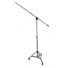 Proel PRO400BK - Профессиональная высокая микрофонная стойка с журавлем на колесах