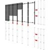 Peerless-AV DS-LEDIFJ-3X3 - Настенный каркас видео стены 3х3 для установки LED-панелей Samsung IF012J