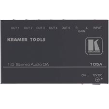 Kramer 105A - Усилитель-распределитель 1:5 звуковых стерео сигналов