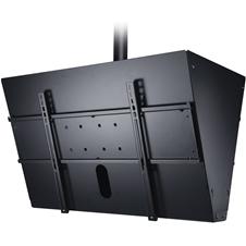 Peerless-AV DST965 - Двухстороннее потолочное крепление для двух ЖК-дисплеев диагональю 40-65'', с фиксированным углом наклона -20°, макс. нагрузка 136 кг