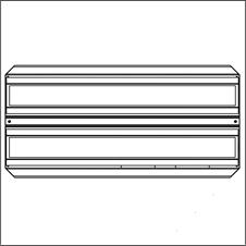 Brightline FLXT2-X35-F-MCM - Потолочный двухмодульный светодиодный светильник с регулировкой яркости по интерфейсу DALI