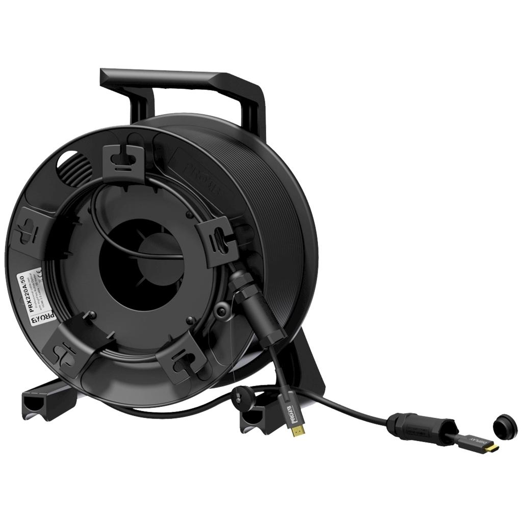 Procab PRX220A/100 - Кабельная катушка CDM310 c гибридным армированным HDMI кабелем PRV220A