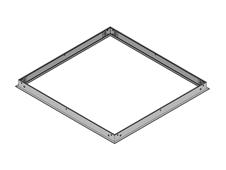 Brighline 016-228 - Рамка для установки двух светильников T-Series в гипсокартонные потолки с размером панели 2x2 фута