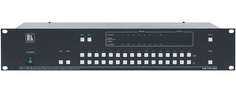 Kramer VS-1616A - Матричный коммутатор 16x16 симметричных стереоаудиосигналов