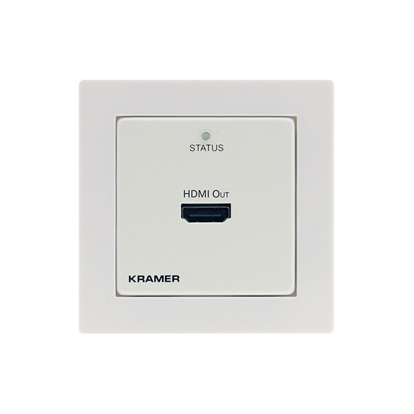 Kramer WP-872XR/EU-80/86(W) - Настенная панель-приемник HDMI с HDCP 2.2 и HDR по витой паре DGKat 2.0; поддержка 4K60 (4:4:4) на 60 м