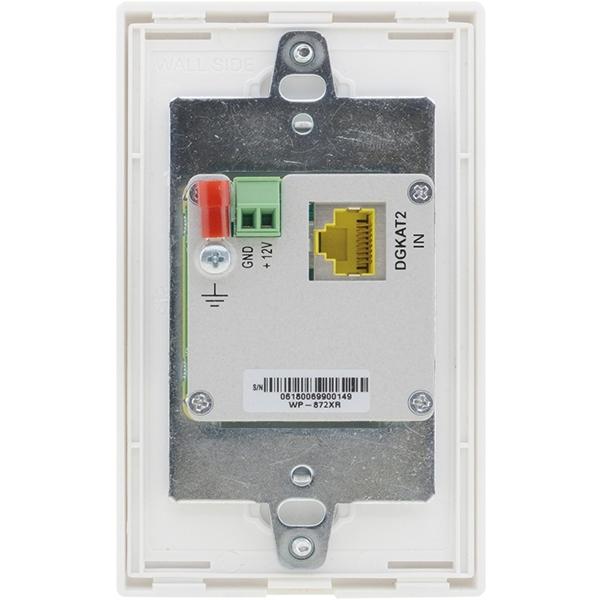 Kramer WP-872XR/US(W/B) - Настенная панель-приемник HDMI по витой паре DGKat 2.0; поддержка 4K60 (4:4:4), PoC