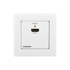 Kramer WP-3H2/EU-80/86(W) - Настенный усилитель-эквалайзер HDMI 2.0 с HDR и перетактированием