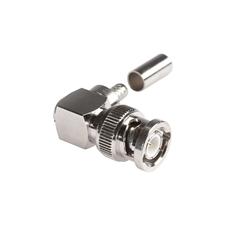 Sommer Cable BNC174M90 - Разъем BNC (вилка), кабельный, 50 Oм, под обжим, угловой