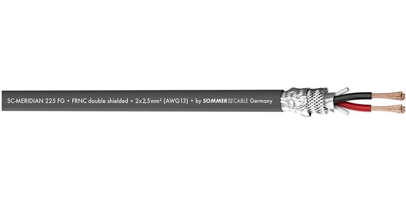 Sommer Cable 425-0056FG - MERIDIAN SP225 Акустический кабель 2х2,5 кв. мм, экранированный, FRNC/LSZH