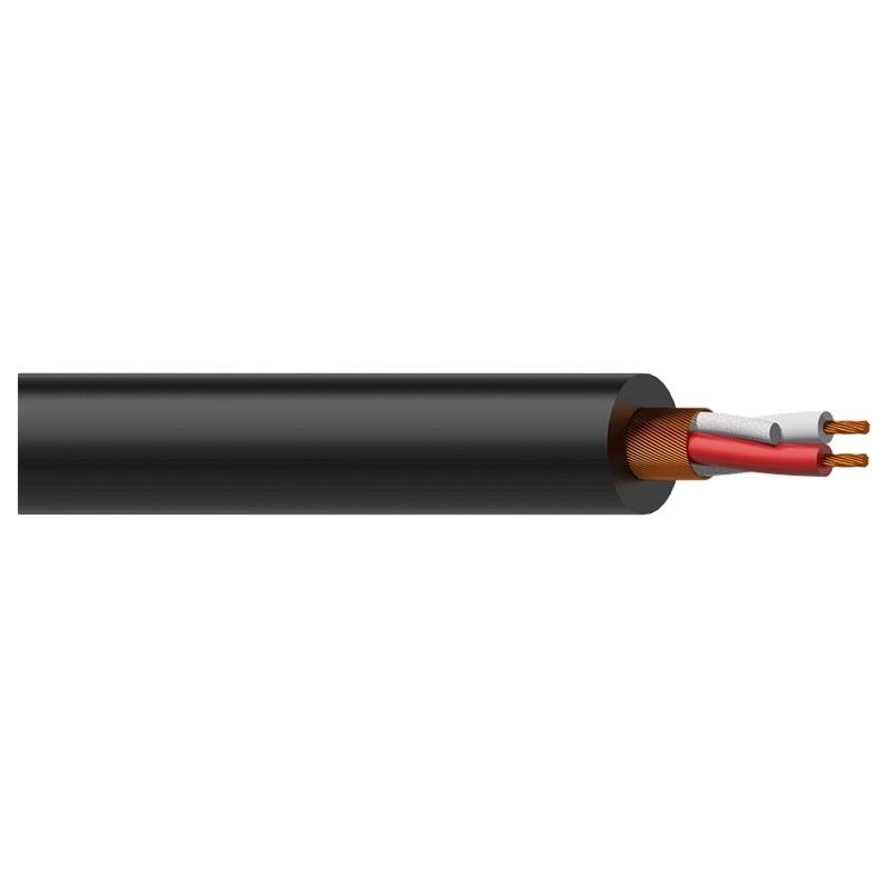 Procab MC305 - Кабель микрофонный 2x0,23 кв.мм, черный