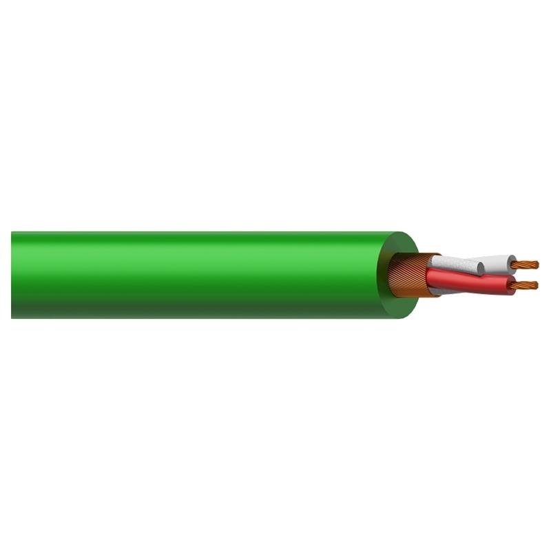 Procab MC305G - Кабель микрофонный 2x0,23 кв.мм, зеленый
