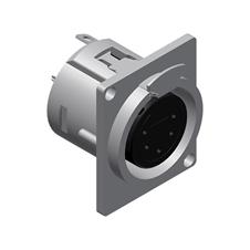 Procab VC5FDL - Разъем XLR 5-pin (розетка), D-SIZE, панельный