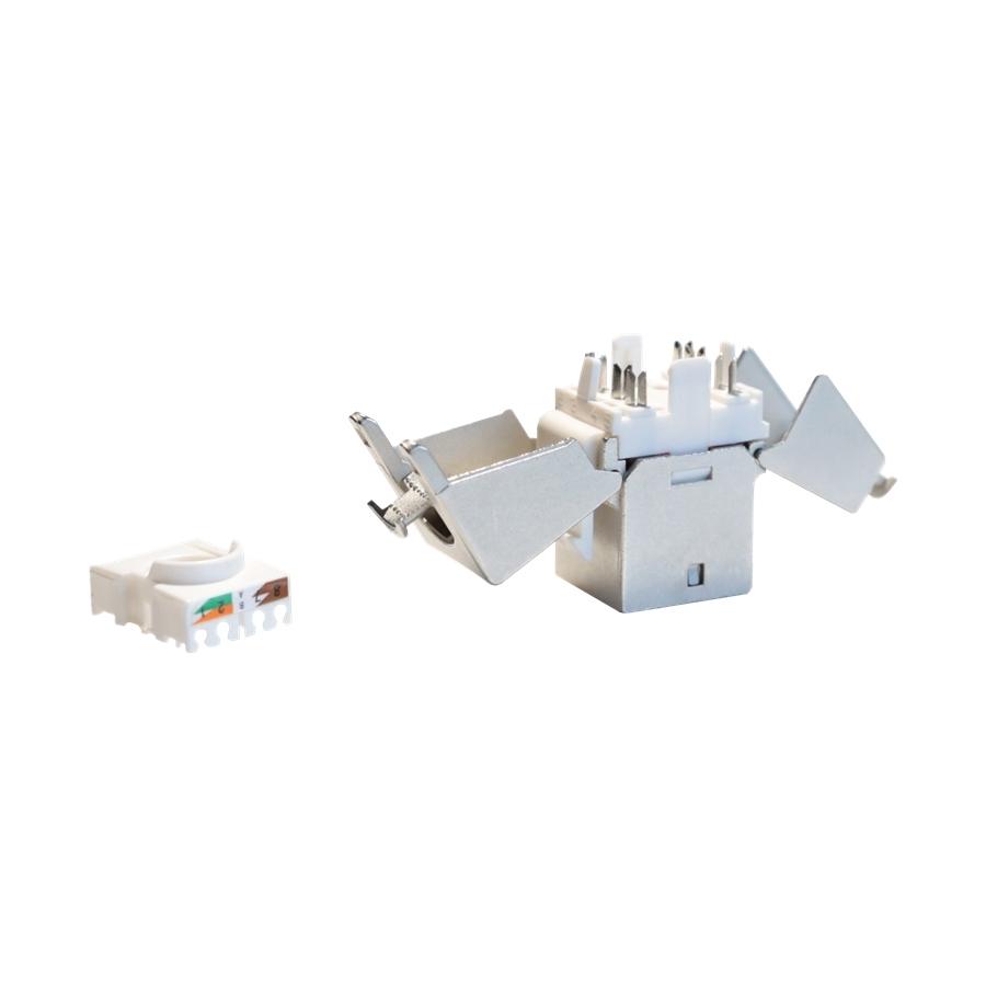 Procab VCK526/S - Вставка-переходник Keystone RJ45 CAT6 STP (розетка) – защищенный терминальный блок для экранированной витой пары