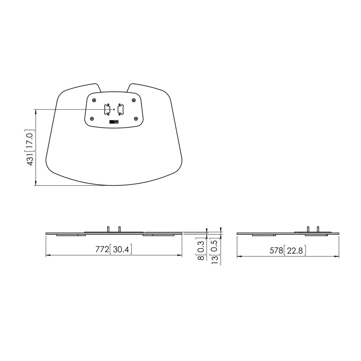 Vogels PFF 7020 Silver - Напольная стационарная пластина для стендов и стоек модульной крепежной системы Connect-it, макс. нагрузка 105 кг