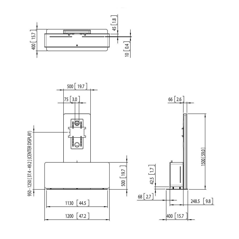 Vogels PVF 4112 White - Многофункциональный стационарный стенд для видеоконференций, макс. нагрузка 80 кг