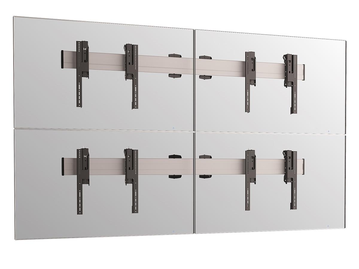 Vogels W2264 Silver - Комплект настенного крепления для видеостены 2х2 из дисплеев диагональю 49–55'', альбомная ориентация, макс. нагрузка 320 кг