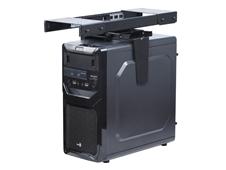 ErgoFount BPCH-05 -Подставка для системного блока до 10 кг под стол с выдвижением и вращением, черная