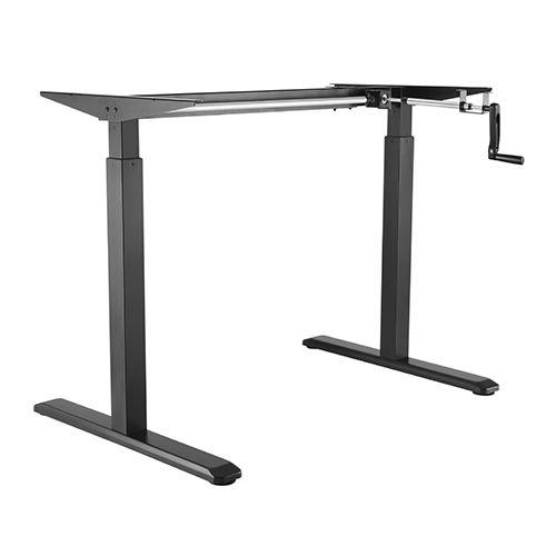 ErgoFount BSSD-10-16/22 B - Основание стола для работы стоя и сидя с механическим приводом на телескопических опорах 730–1230 мм, макс. нагрузка 70 кг, черное