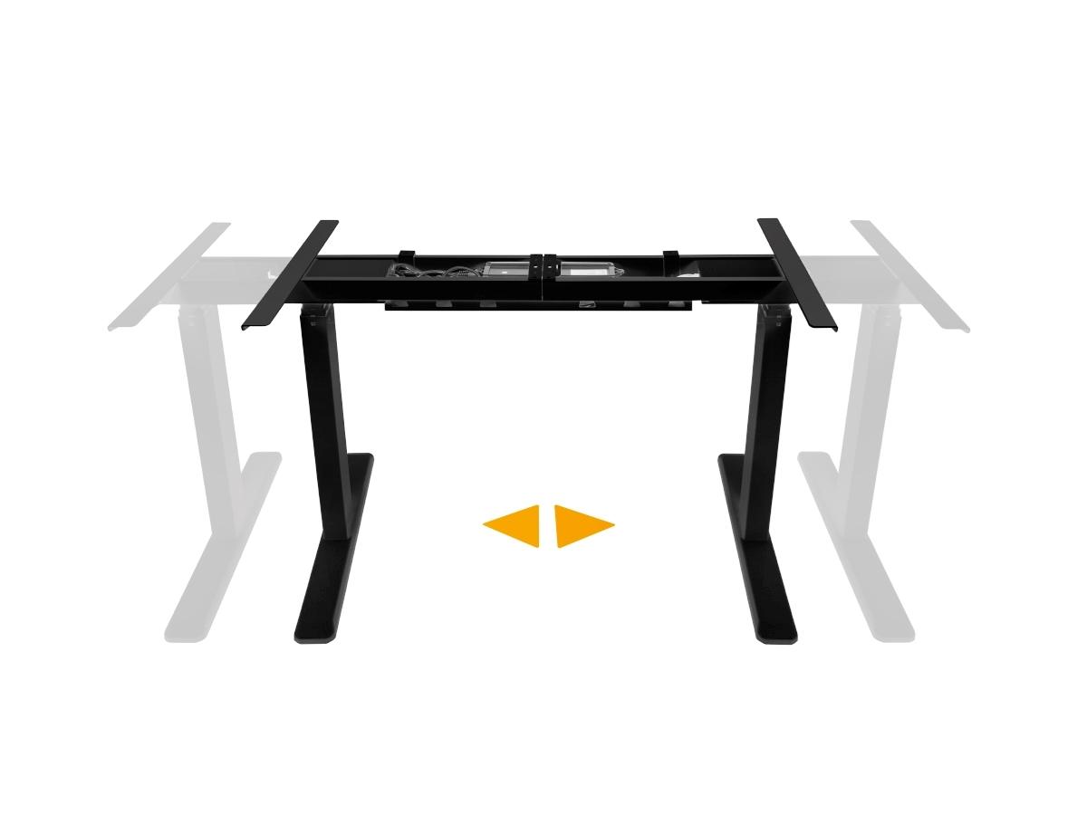 ErgoFount BSSD-10-17/F23S B - Основание стола для работы стоя и сидя c электроприводом на телескопических опорах 620–1280 мм, макс. нагрузка 100 кг, черное