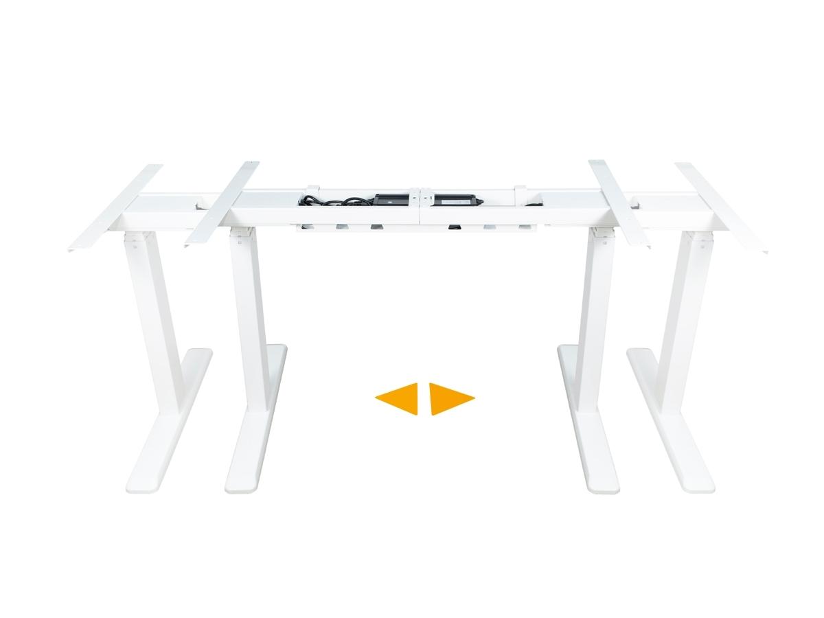 ErgoFount BSSD-10-17/F23S W - Основание стола для работы стоя и сидя c электроприводом на телескопических опорах 620–1280 мм, макс. нагрузка 100 кг, белое