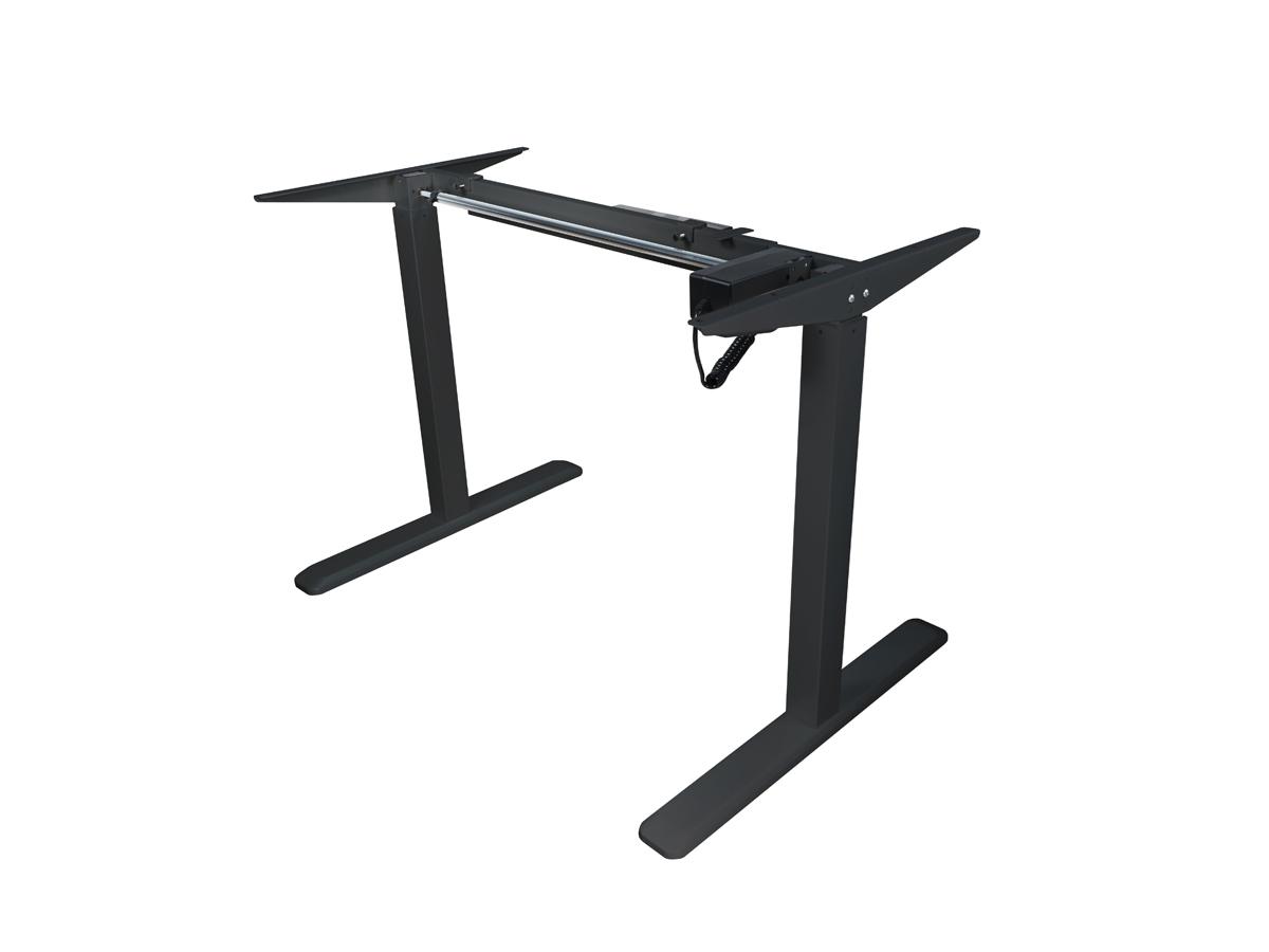 ErgoFount BSSD-10-17/S22 B - Основание стола для работы стоя и сидя c электроприводом на телескопических опорах 730–1230 мм, макс. нагрузка 80 кг, черное