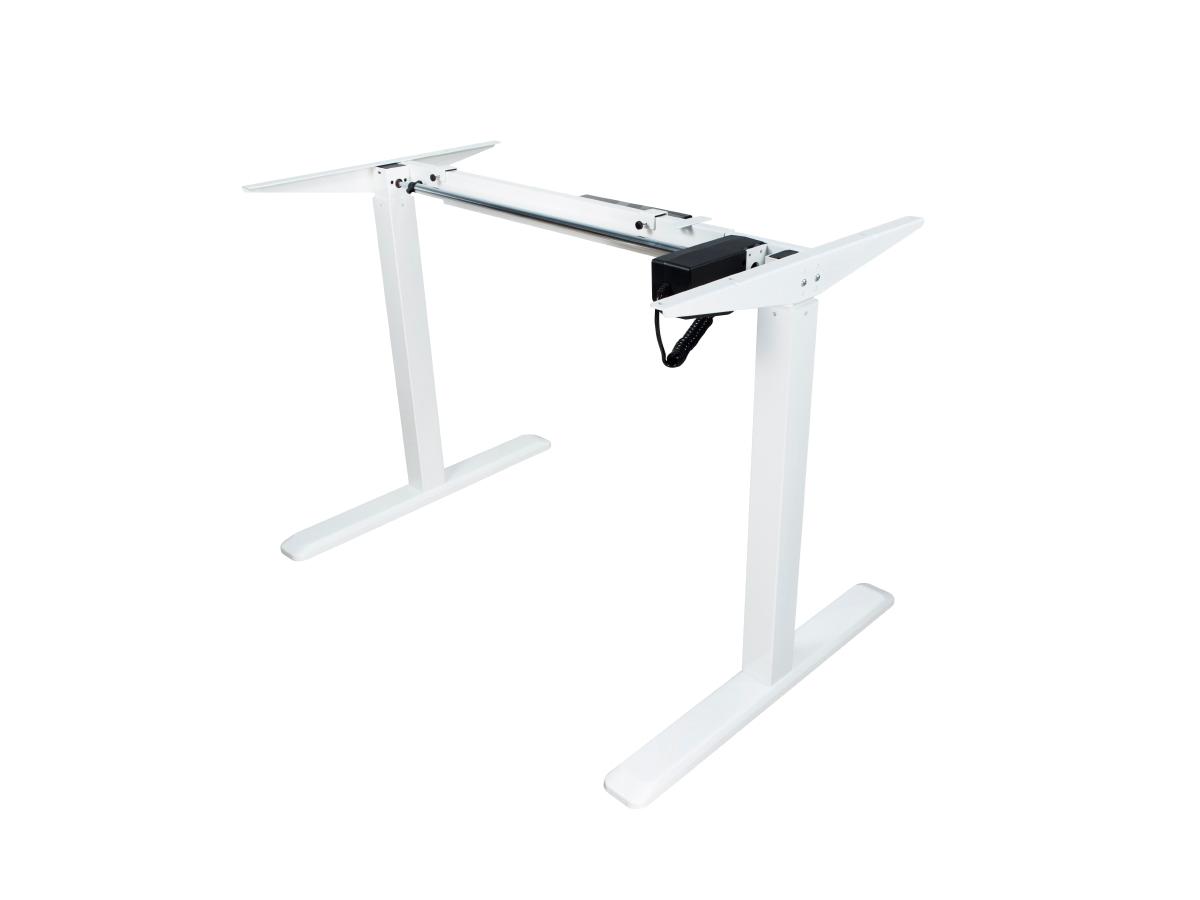 ErgoFount BSSD-10-17/S22 W - Основание стола для работы стоя и сидя c электроприводом на телескопических опорах 730–1230 мм, макс. нагрузка 100 кг, белое