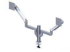 ErgoFount DFS-202DG - Настольное шарнирное крепление для 2 мониторов диагональю до 24'' с газопружинными амортизаторами, струбцина типа G, макс. нагрузка 17 кг