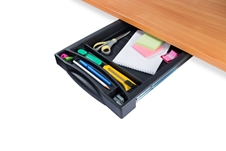 ErgoFount PDS-01 - Выдвижной пластиковый ящик-органайзер для канцелярских принадлежностей под стол, средний