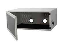 ErgoFount KFT 05AS - Ящик с дверцей для установки оборудования на тележки серии KFTxx, серебристый