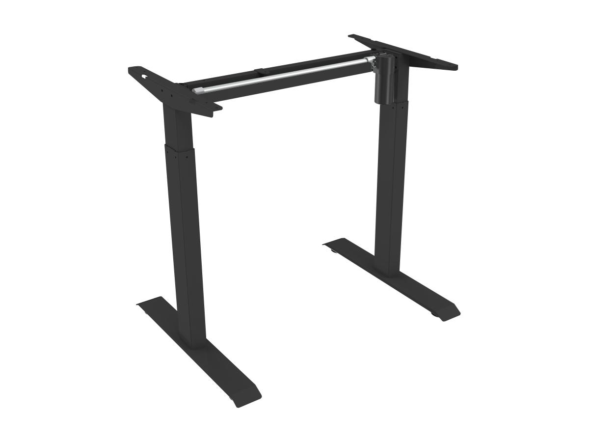 ErgoFount BSSD-L10-18/12 B - Основание стола для работы стоя и сидя с электроприводом на телескопических опорах 710–1210 мм, макс. нагрузка 70 кг, черное