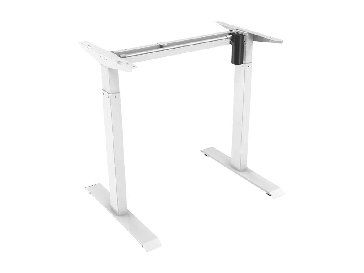 ErgoFount BSSD-L10-18/12 W - Основание стола для работы стоя и сидя с электроприводом на телескопических опорах 710–1210 мм, макс. нагрузка 70 кг, белое