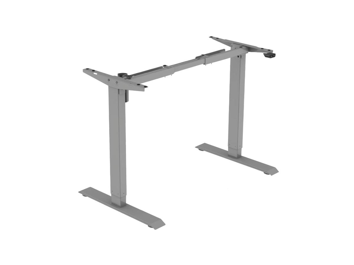 ErgoFount BSSD-L10-18/14 G - Основание для стола для работы стоя и сидя с электроприводом на телескопических опорах 710–1210 мм, макс. нагрузка 70 кг, серое