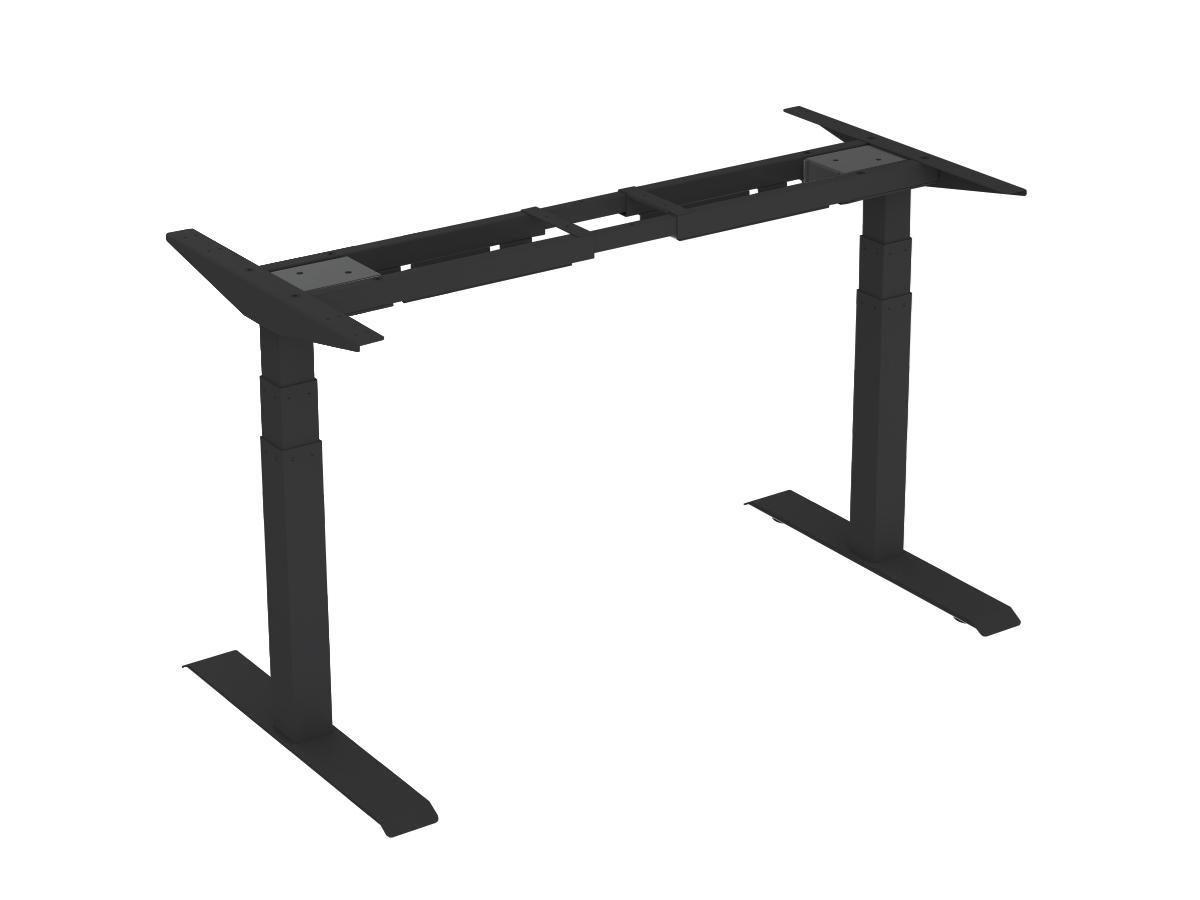 ErgoFount BSSD-L10-18/23 B - Основание стола для работы стоя и сидя с электроприводом на телескопических опорах 600–1230 мм, макс. нагрузка 125 кг, черное