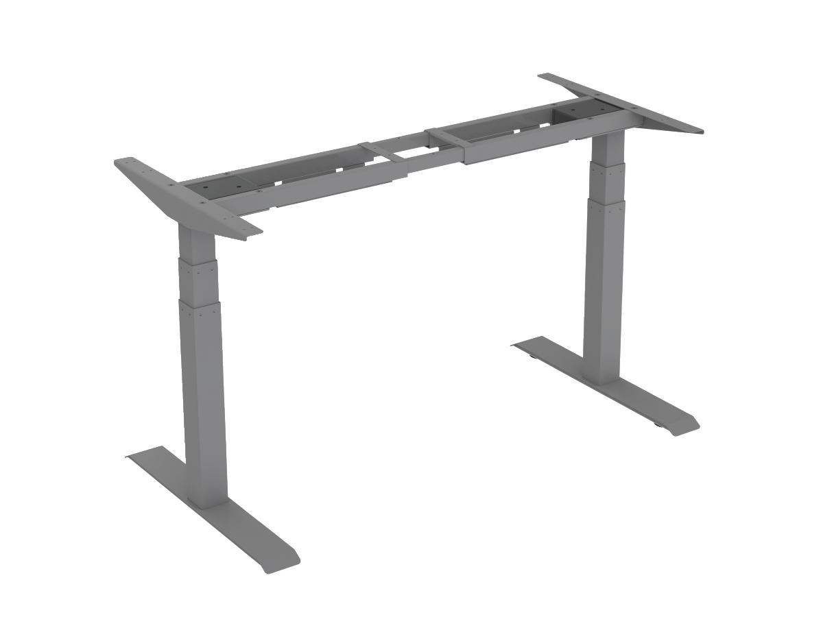 ErgoFount BSSD-L10-18/23 G - Основание стола для работы стоя и сидя с электроприводом на телескопических опорах 600–1230 мм, макс. нагрузка 125 кг, серое