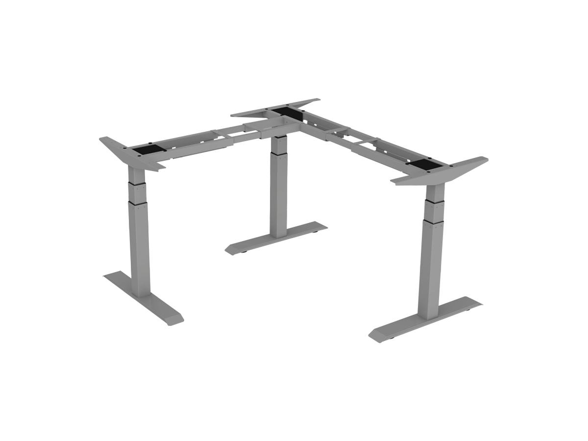 ErgoFount BSSD-L10-90/33 G - Основание стола для работы стоя и сидя, L-образное 90°, с электроприводом на телескопических опорах 600–1230 мм, макс. нагрузка 150 кг, серое