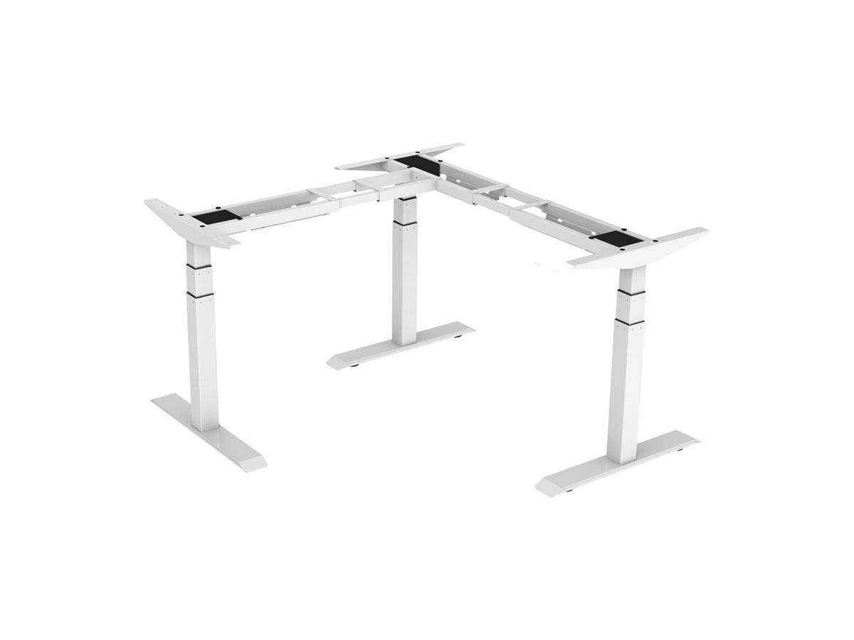 ErgoFount BSSD-L10-90/33 W - Основание стола для работы стоя и сидя, L-образное 90°, с электроприводом на телескопических опорах 600–1230 мм, макс. нагрузка 150 кг, белое