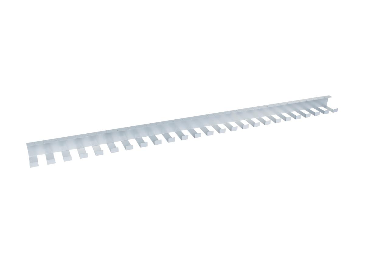 ErgoFount PCS-147S - Горизонтальный гибкий кабель-канал, 1470 мм, серебристый