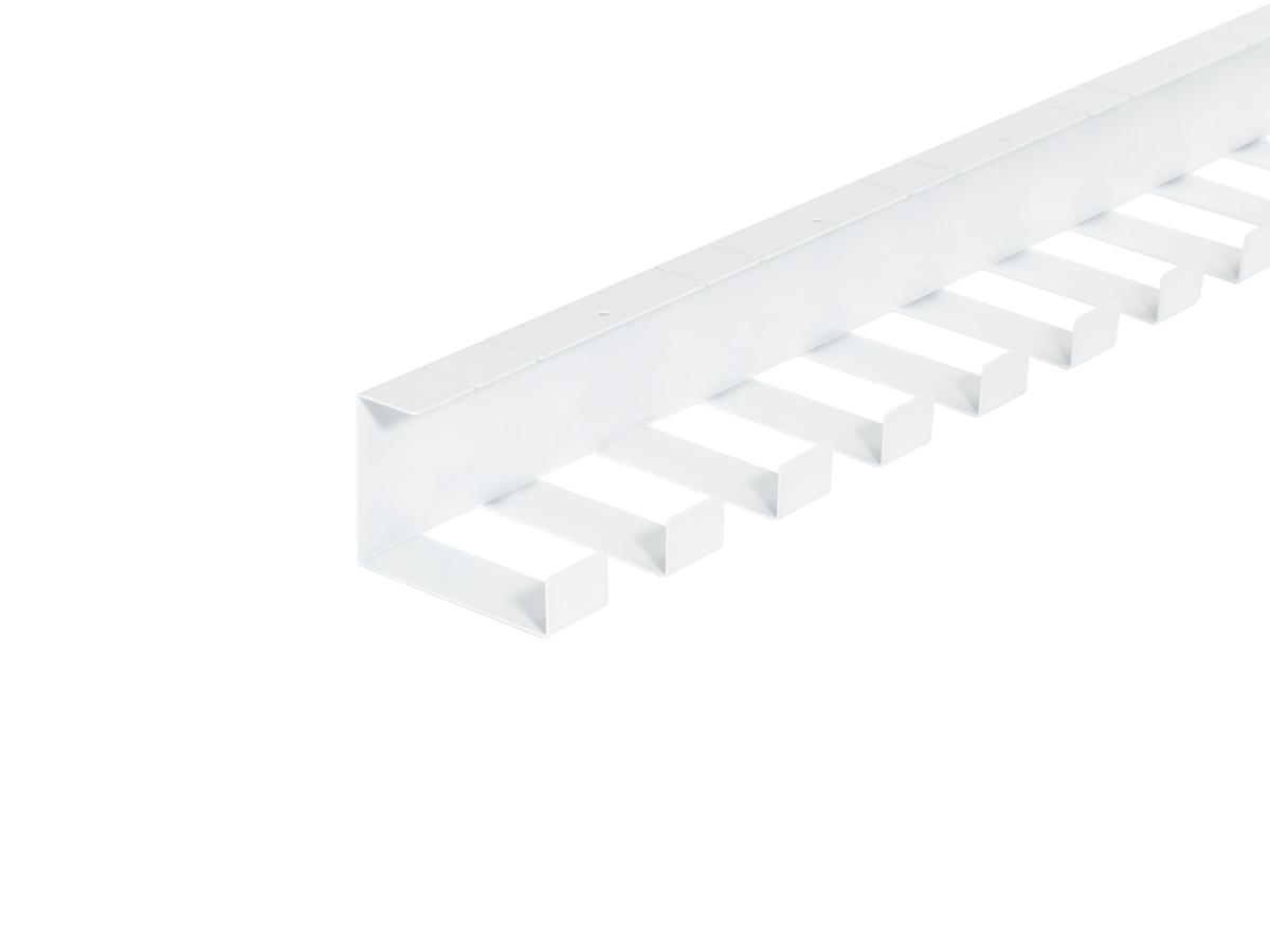 ErgoFount PCS-147W - Горизонтальный гибкий кабель-канал, 1470 мм, белый